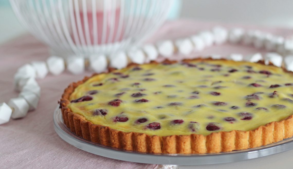 Pudding-Kirsch-Tarte
