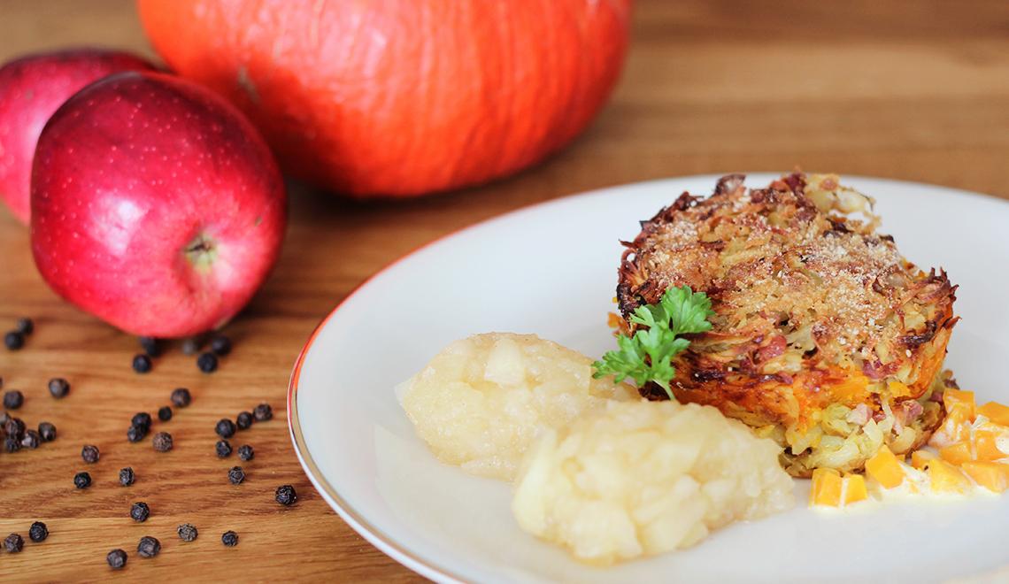 Kürbis-Schales mit Apfelkompott