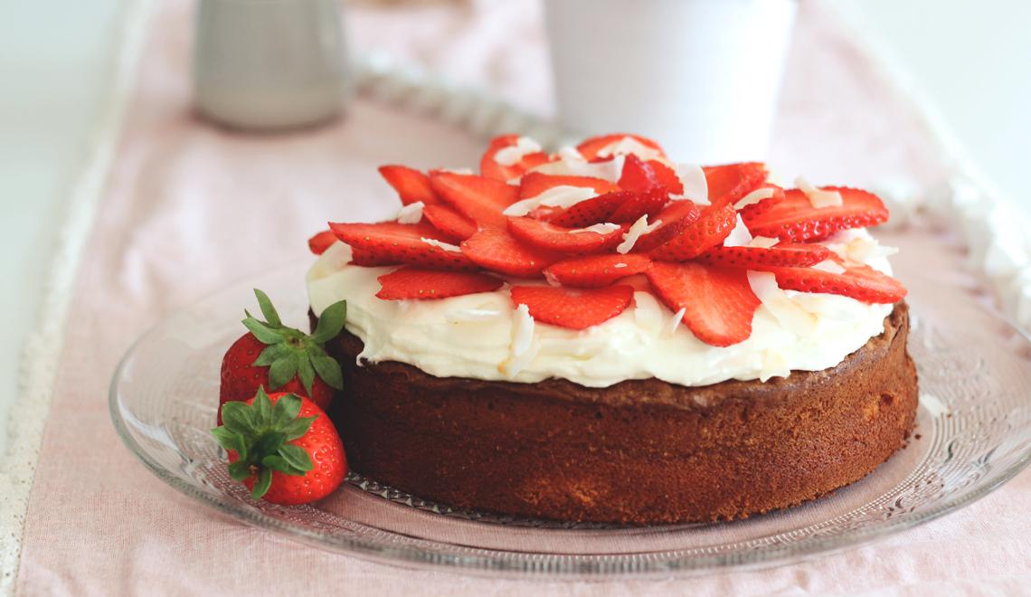 Erdbeer-Limettenkuchen