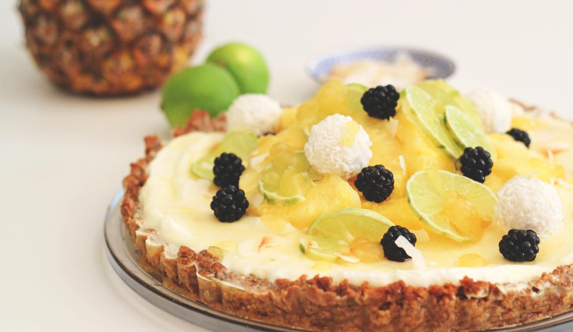 No bake Kokos-Ananas-Tarte