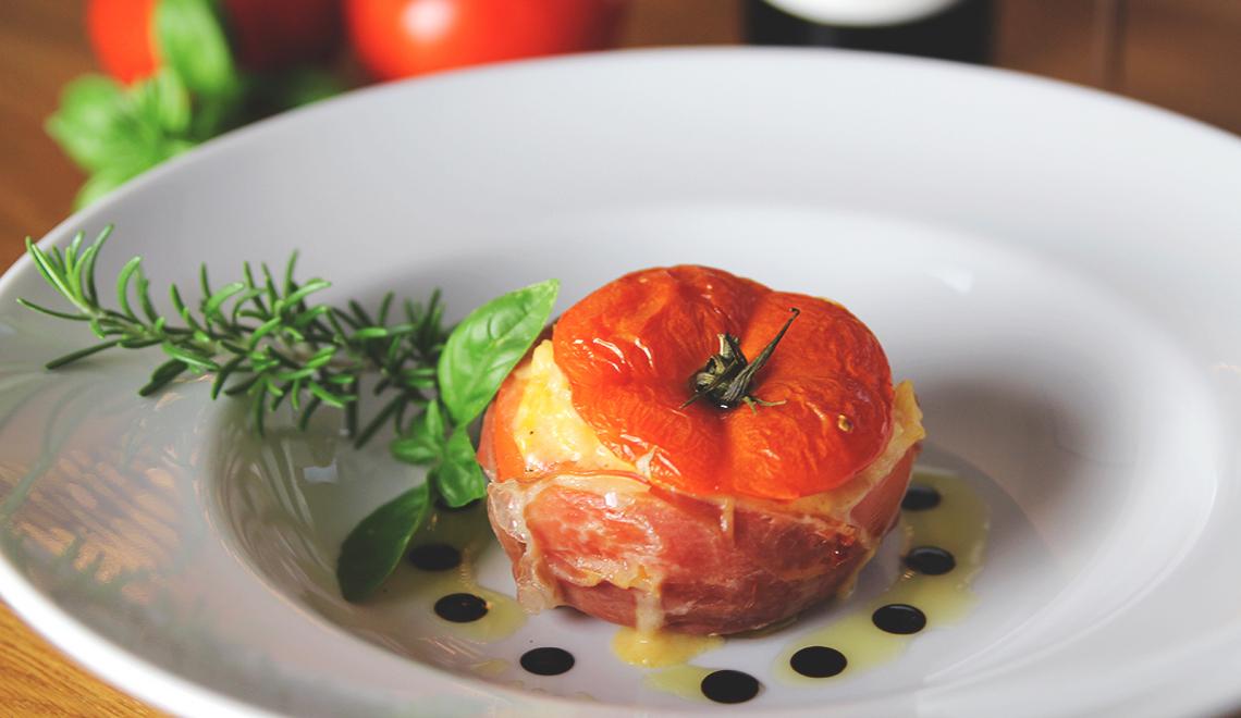 Gefüllte Risotto-Tomaten